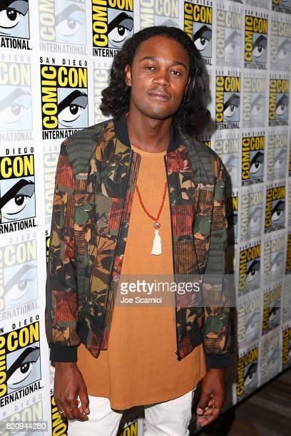 Echo Kellum arrives at the 'Arrow' press line at ComicCon International 2017 on July 22 2017 in San Diego California