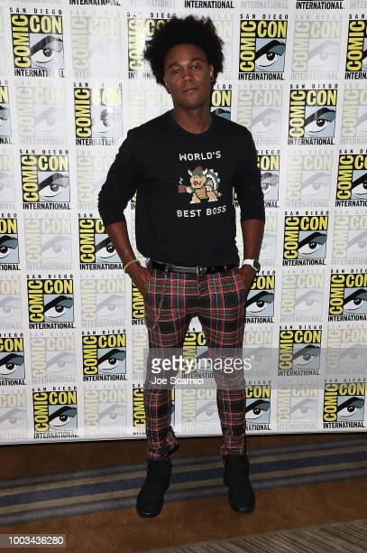 Echo Kellum attends the 'Arrow' press line at ComicCon International 2018 on July 21 2018 in San Diego California