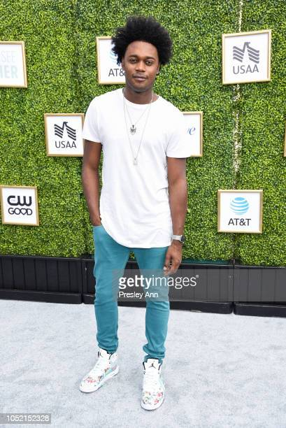 Echo Kellum attends The CW Network's Fall Launch Event Arrivals at Warner Bros Studios on October 14 2018 in Burbank California