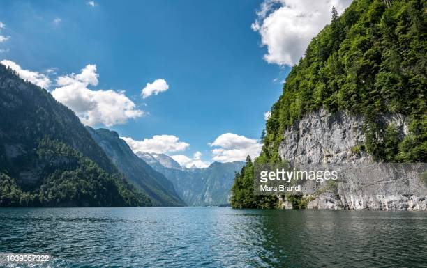 Echowand at lake Koenigssee, Berchtesgaden, Bavaria, Germany