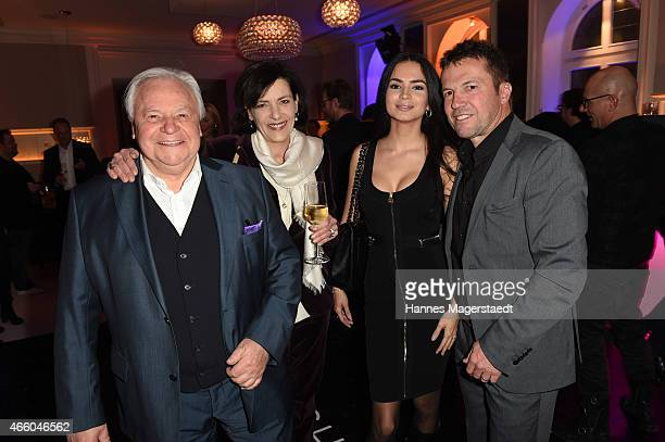 Eckart Witzigmann Nicola Schnelldorfer Lothar Matthaeus and his wife Anastasia attend the Schwarzreiter Tagesbar Opening In Munich at Hotel Vier...
