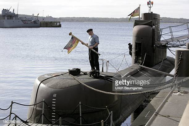 GERMANY ECKERNFoeRDE Base of the Bundesmarine in Eckernfoerde Our picture shows a German submarine category 206A