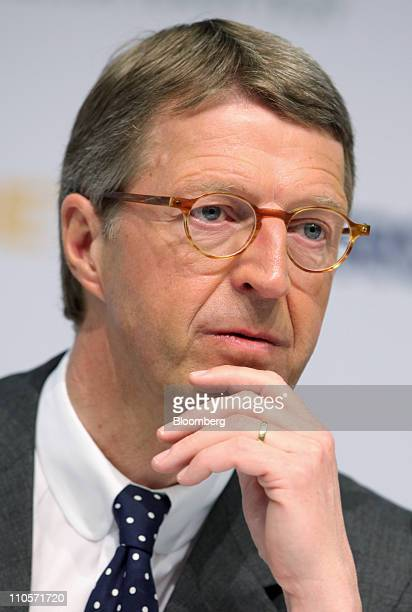 Eckhard Cordes chief executive officer of Metro AG pauses during a news conference in Dusseldorf Germany on Tuesday March 22 2011 Metro AG Germany's...