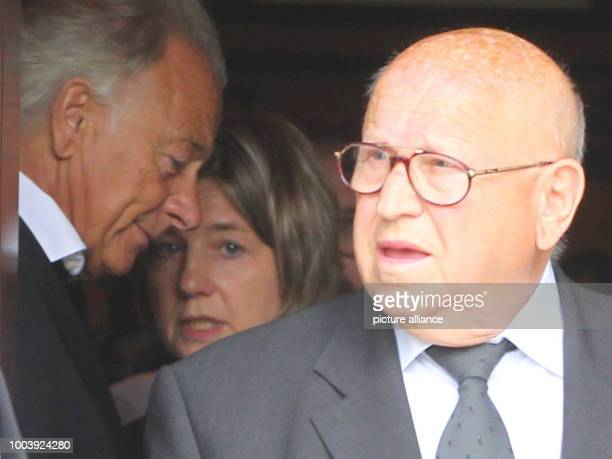 Eckhard Seeber who worked as a driver for former German Chancellor Helmut Kohl for many years leaves Kohl's residence after a condolence visit, with...