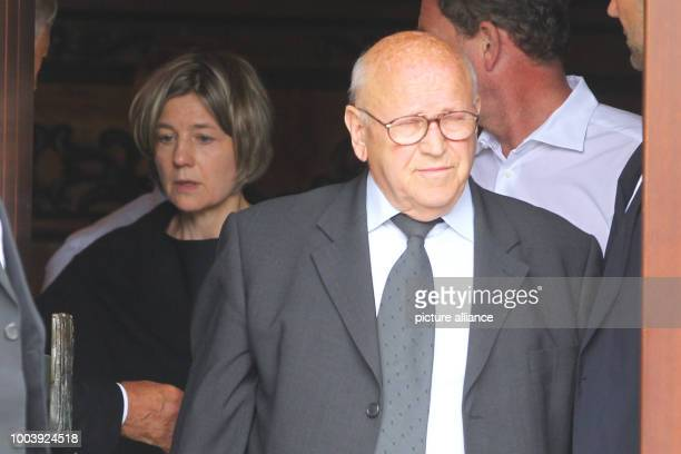 Eckhard Seeber who worked as a driver for former German Chancellor Helmut Kohl for many years leaves Kohl's residence after a condolence visit with...