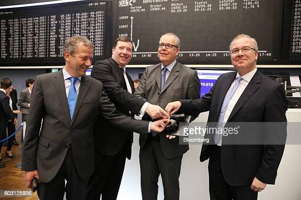 Eckhardt Ruemmler chief operating officer of Uniper SE left to right Keith Martin chief commercial officer of Uniper SE Klaus Schaefer chief...