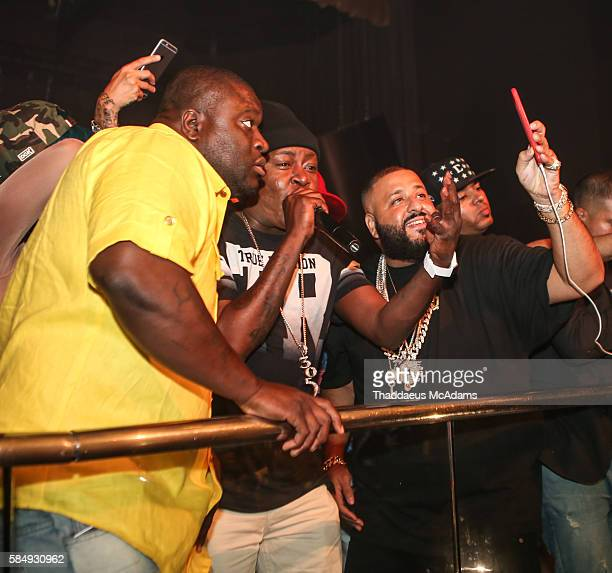 EClass Trick Daddy and DJ Khaled at his Album Release party at LIV nightclub at Fontainebleau Miami on July 31 2016 in Miami Beach Florida