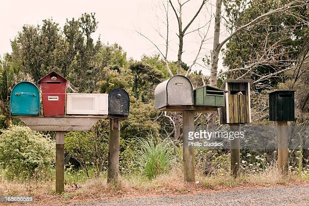 Eclectic mix letter boxes