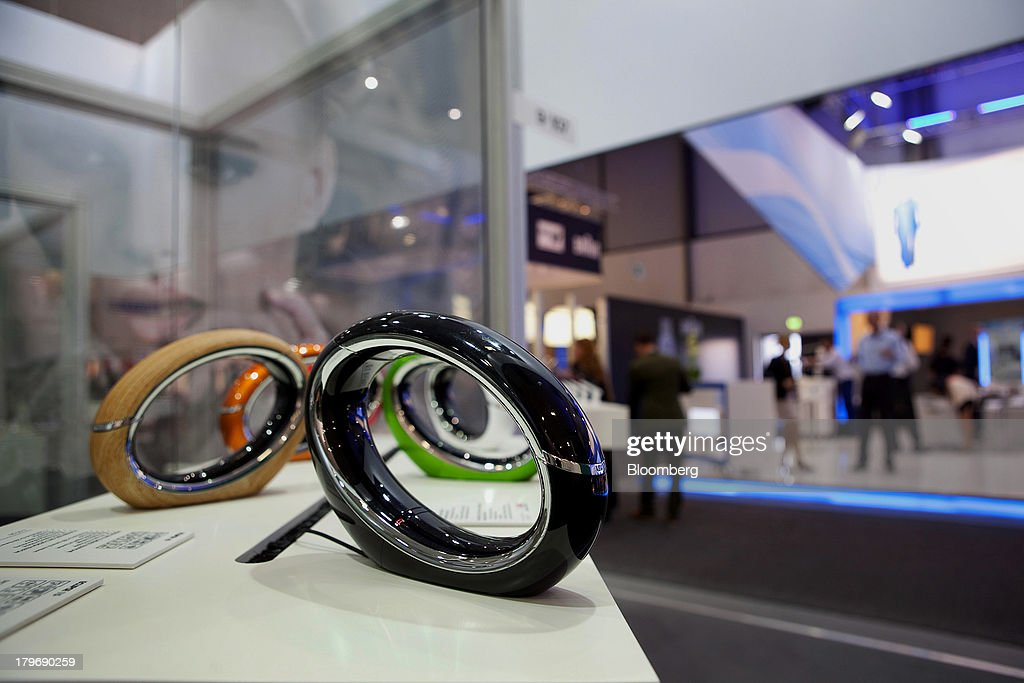 AEG Eclipse 15 telephones sit on display at the IFA consumer electronics show in Berlin, Germany, on Friday, Sept. 6, 2013. Global smartphone revenue will rise 22 percent in 2013, or nearly half the pace of an expected 41 percent gain in shipments, amid falling prices, according to UBS. Photographer: Krisztian Bocsi/Bloomberg via Getty Images