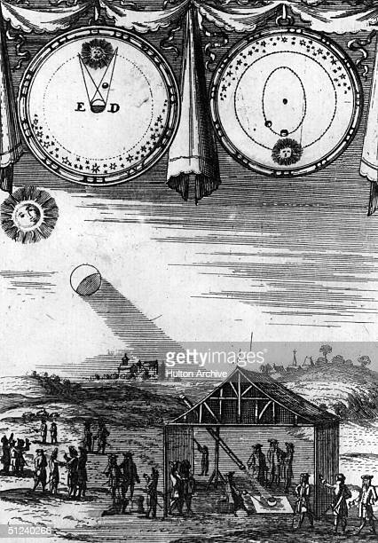 1685 Eclipse of the sun according to the Moderns Fig 54 Opp Page 91 of 'Description de l'Universe Contenant lon Differents Systems du Monde' by...