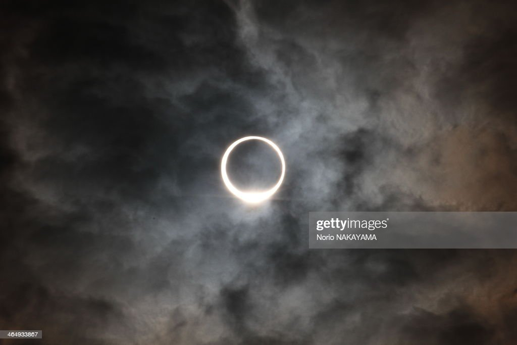 eclipse of the sun like ring : Stock Photo