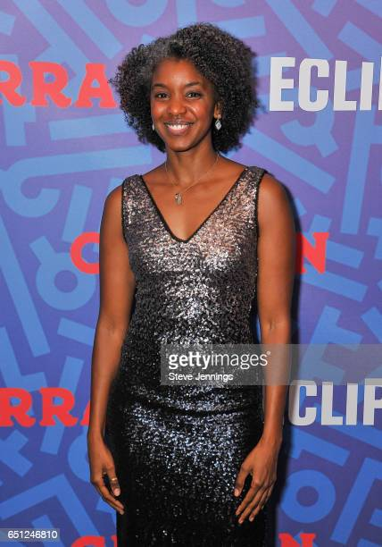 Eclipsed Actress Ayesha Jordan attends the celebration of Women's History Month on it's Opening Night of Eclipsed at the Curran Theater on March 9...