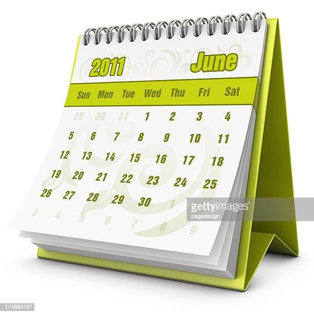 eco calendário de Junho de 2011
