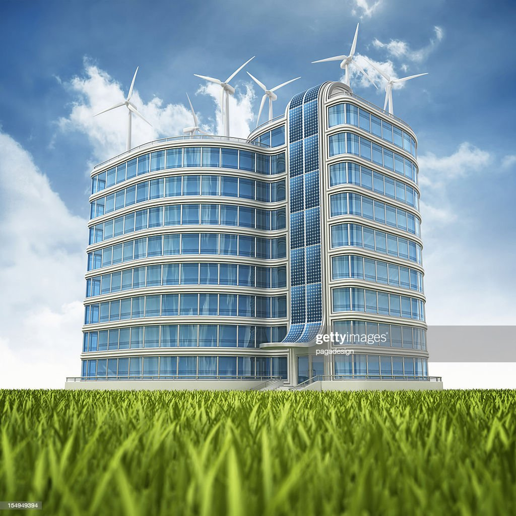 eco office. Eco Office Building : Stock Photo
