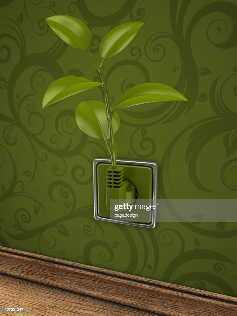 eco power in room : Stock Photo