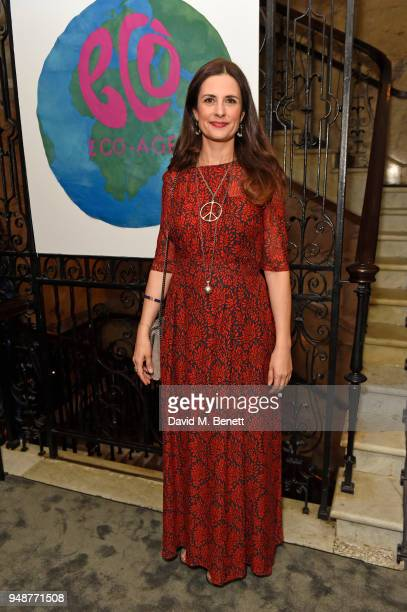 EcoAge founder and creative director Livia Firth attends the Eco Age Earth Day party at The London EDITION on April 19 2018 in London England