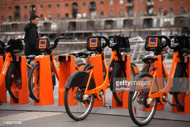 Ecobici in Buenos Aires Argentina on 22 August 2019 EcoBici is a system of shared bicycles that works in the City of Buenos Aires has 400 stations...
