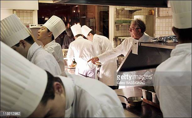Ecole Des Chefs: Ultimate Cuisine At Michel Rostang'S Two Star Restaurant - On December 15Th, 2005 - In Paris, France - Here, Two Michelin Star Chef...
