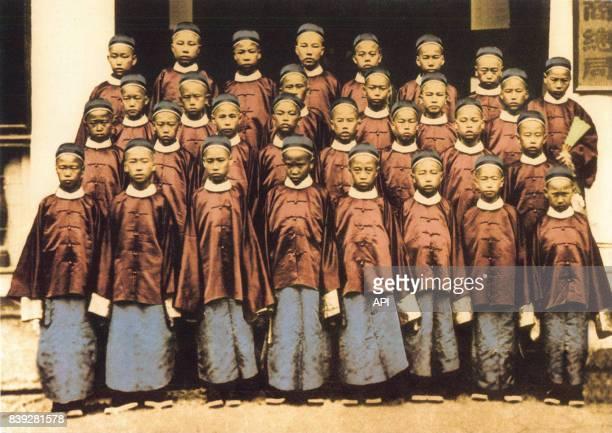 Ecoliers parrainés par le gouvernement chinois pour étudier aux EtatsUnis en Chine en 1872
