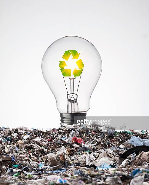 ecologic bulb - waste management stock pictures, royalty-free photos & images