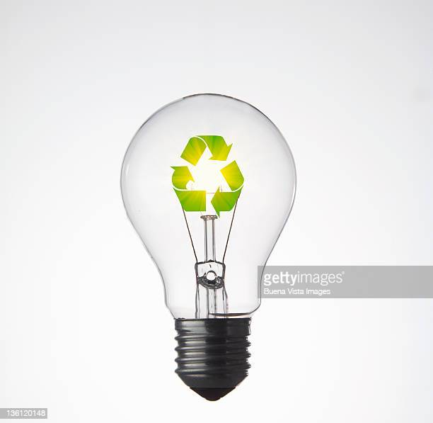 ecologic bulb - symbol stock photos and pictures