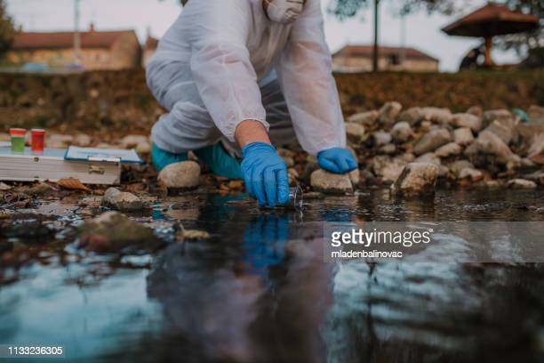 ecological water sampling - environment stock pictures, royalty-free photos & images