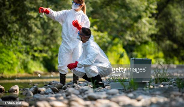 ecological water sampling - ecologist stock pictures, royalty-free photos & images