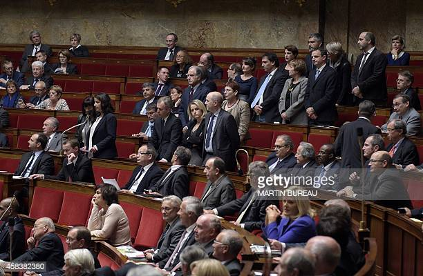 Ecologist party's member of Parliament observe a minute's silence in memory of Remi Fraisse a 21yearold environmental activist who died in the early...