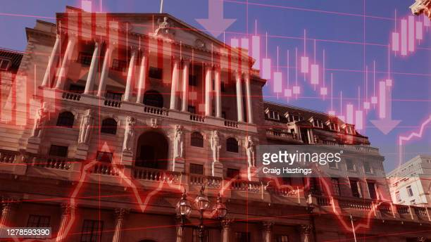 economic and financial crisis has hit the uk economy hard due to the coronavirus covid19 epidemic. world economies are edging towards recession and full depression as prices and performance crashes - decline stock pictures, royalty-free photos & images