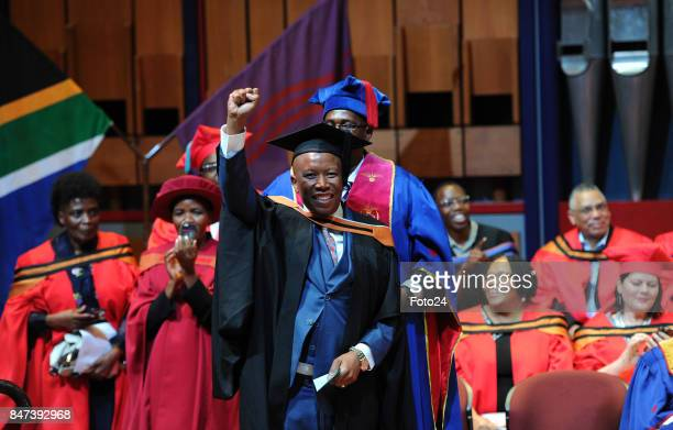 Economic Freedom Fighters leader Julius Malema during his graduation ceremony on September 06 2017 in Pretoria South Africa Julius graduated from the...
