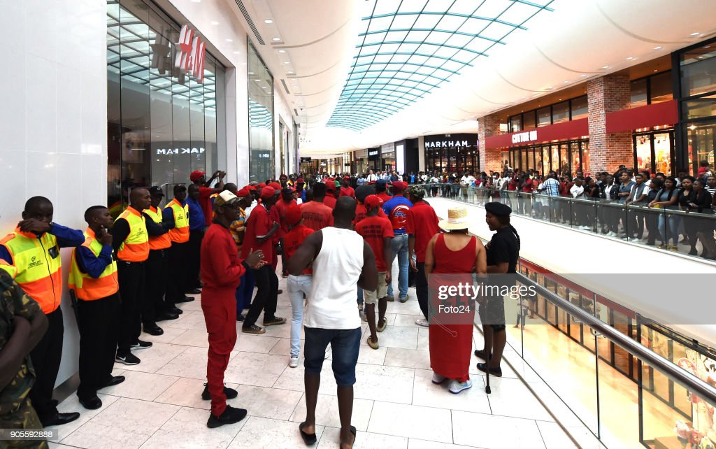 EFF protests against H&M in the Mall of Africa