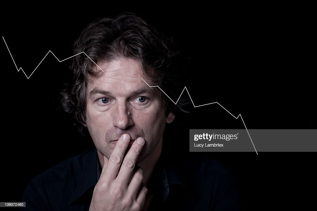 Economic frown : Stock Photo