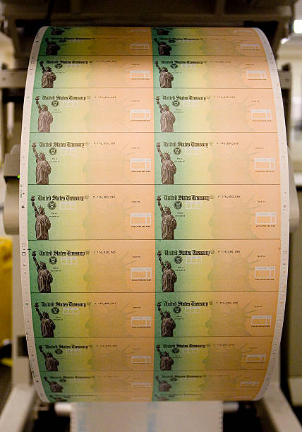 Economic Stimulus Checks Are Prepared For Printing At The Philadelphia Financial Center May 8 2008