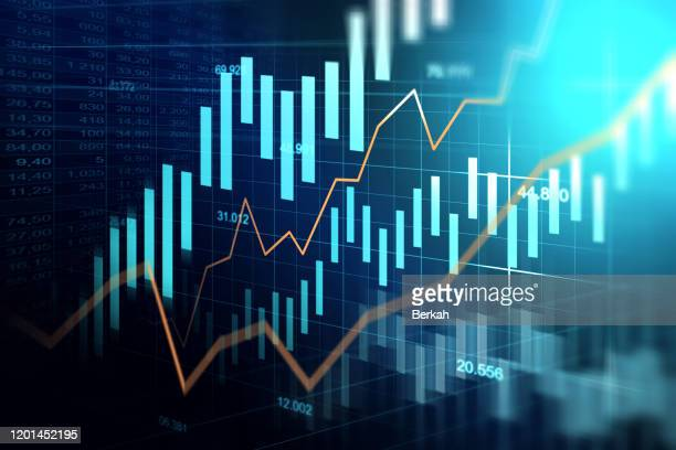 economic trends business idea and all art work design - data stock pictures, royalty-free photos & images