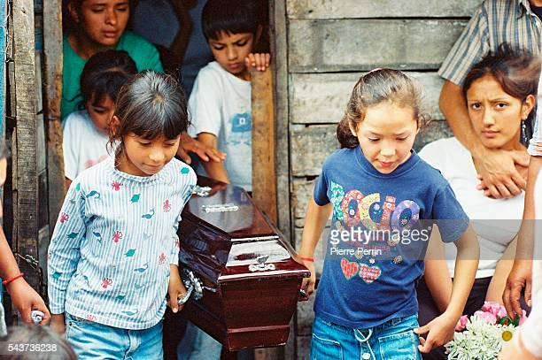 Economical crisis in Argentina increases the country's drama: Argentinians mourn the death of children dying of malnutrition in the Tucuman province,...