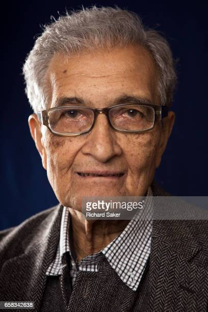Economist Amartya Sen is photographed for the Observer on January 16 2017 in London England