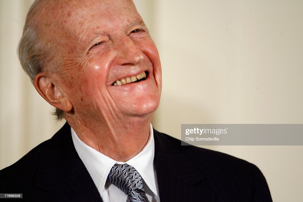 Economist and 1992 Nobel Prize winner Gary Becker laughs before being presented the 2007 Presidential Medal of Freedom in the East Room of the White House November 5, 2007 in Washington, DC. The Medal of Freedom is given to those who have made remarkable contributions to the security or national interests of the United States, world peace, culture, or other private or public endeavors.