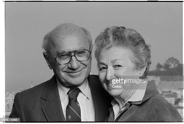 Economist and author Milton Friedman with his wife and co-author Rose.