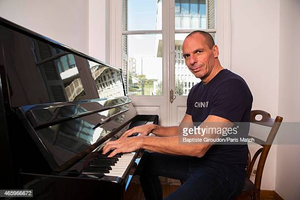 Economist and Finance Minister for the Greek government Yanis Varoufakis is photographed for Paris Match on March 8 2015 in Athens Greece