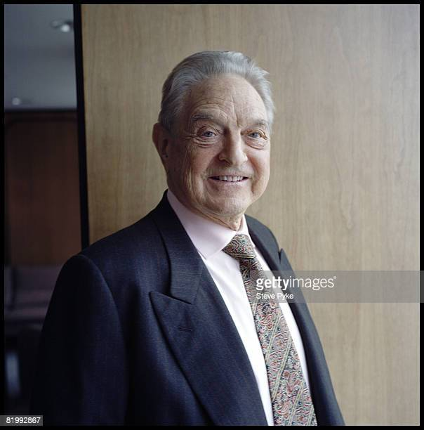 Economist and philanthrophist George Soros founder of The Open Society pose at aportrait session in New York City