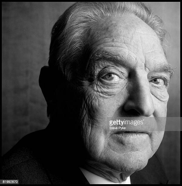 Economist and philanthrophist George Soros founder of The Open Society pose at aportrait session in New York City Published image