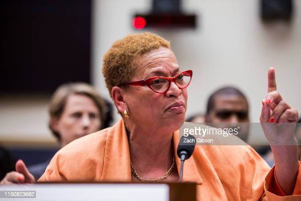 Economist and Political Commentator Julianne Malveaux testifies during a hearing on slavery reparations held by the House Judiciary Subcommittee on...