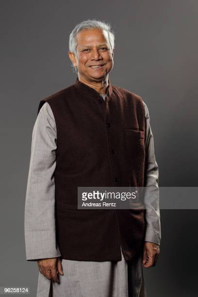 Economist Muhammad Yunus of Grameen Bank poses during a portrait session at the Digital Life Design conference at HVB Forum on January 26 2010 in...