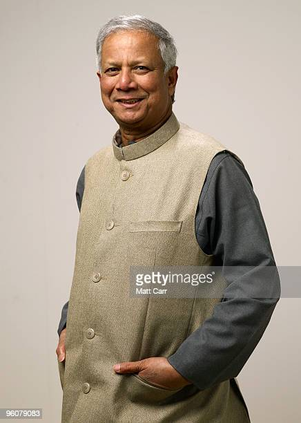 Economist Muhammad Yunus poses for a portrait during the 2010 Sundance Film Festival held at the Getty Images portrait studio at The Lift on January...