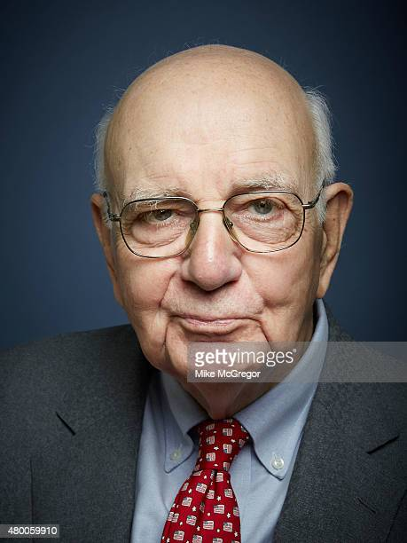 Economist Paul Volcker is photographed for Institutional Investor Magazine on May 11 2015 in New York City
