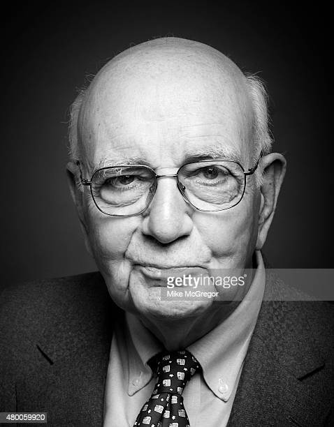 Economist Paul Volcker is photographed for Institutional Investor Magazine on May 11 2015 in New York City PUBLISHED IMAGE