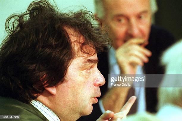 Economist Renato Brunetta close to centerright coalition of Silvio Berlusconi attends a round table at the 'Corriere della Sera' headquarters on...