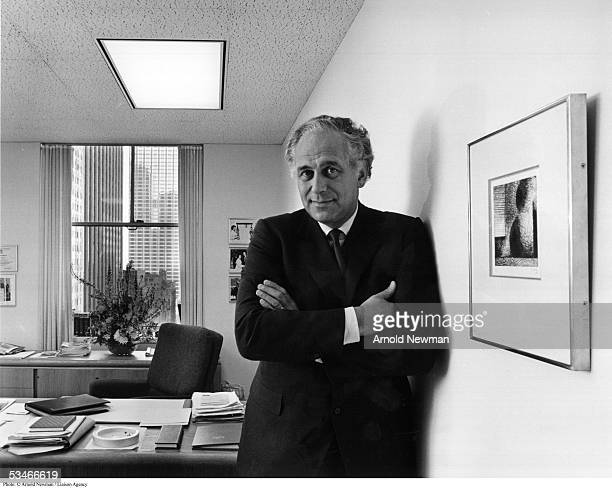 Economist Sir Evelyn De Rothschild poses for portrait in his office February 9, 1981 in New York City.