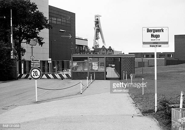 economy hard coal mining coal mine Hugo shaft 2 8 Ruhrkohle AG Bergbau AG Lippe nowadays coal mine Hugo Consol Route of Industrial Heritage factory...