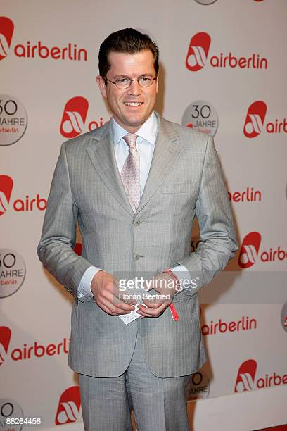 Economy Minister Dr KarlTheodor Zu Guttenberg attends the Air Berlin 30th Birthday Party at Estrel Hotel on April 28 2009 in Berlin Germany